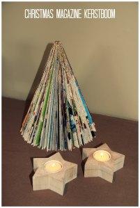 DIY magazine kerstboom kaarsjes
