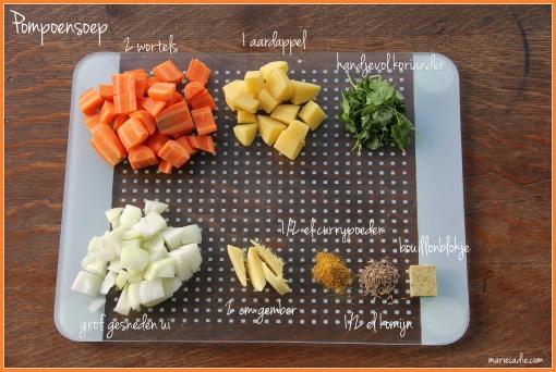 ingrediënten pompoensoep