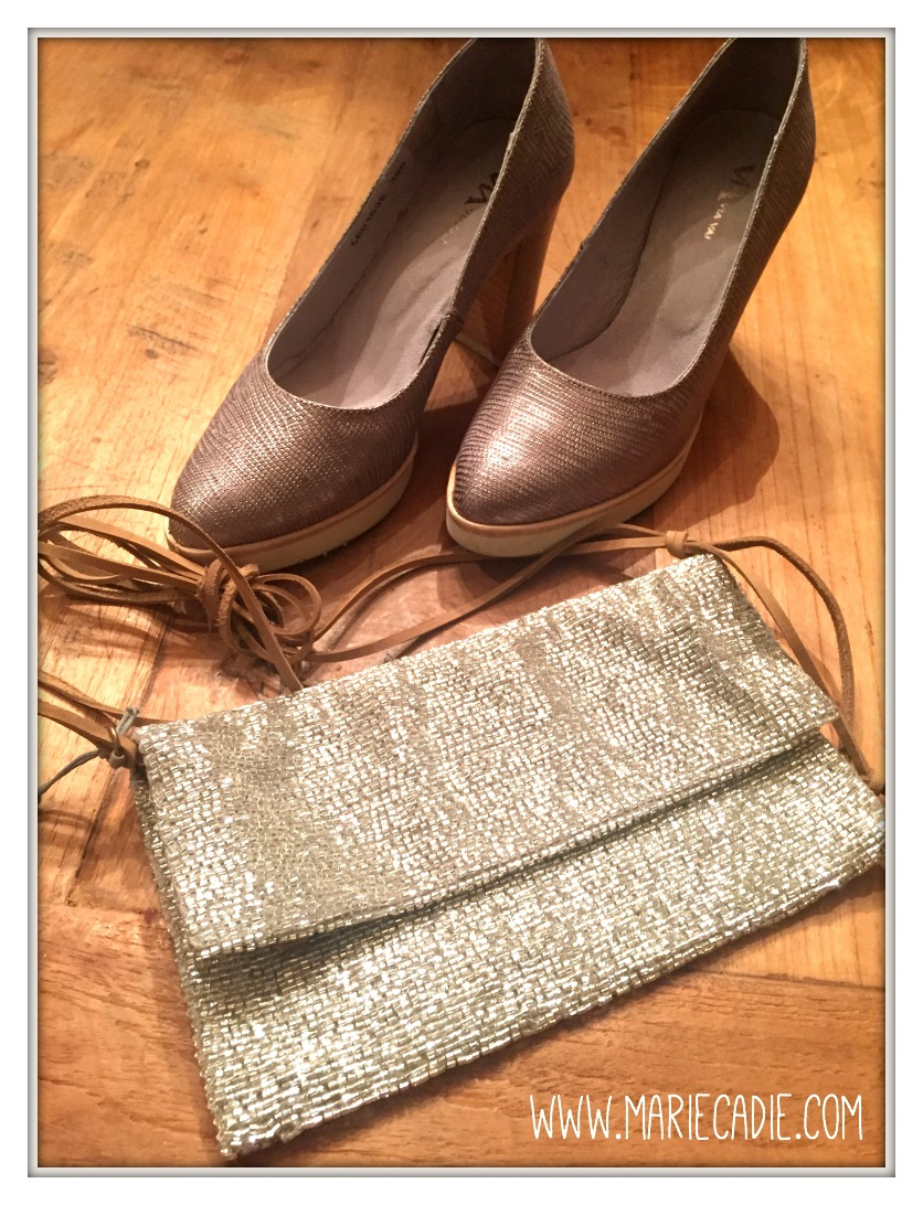 MarieCadie.com Shoes handbag silver glitter